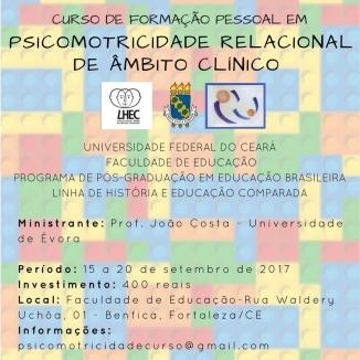 Psicomotricidade Relacional de Ambito Clinico - 15 a 20 de Setembro