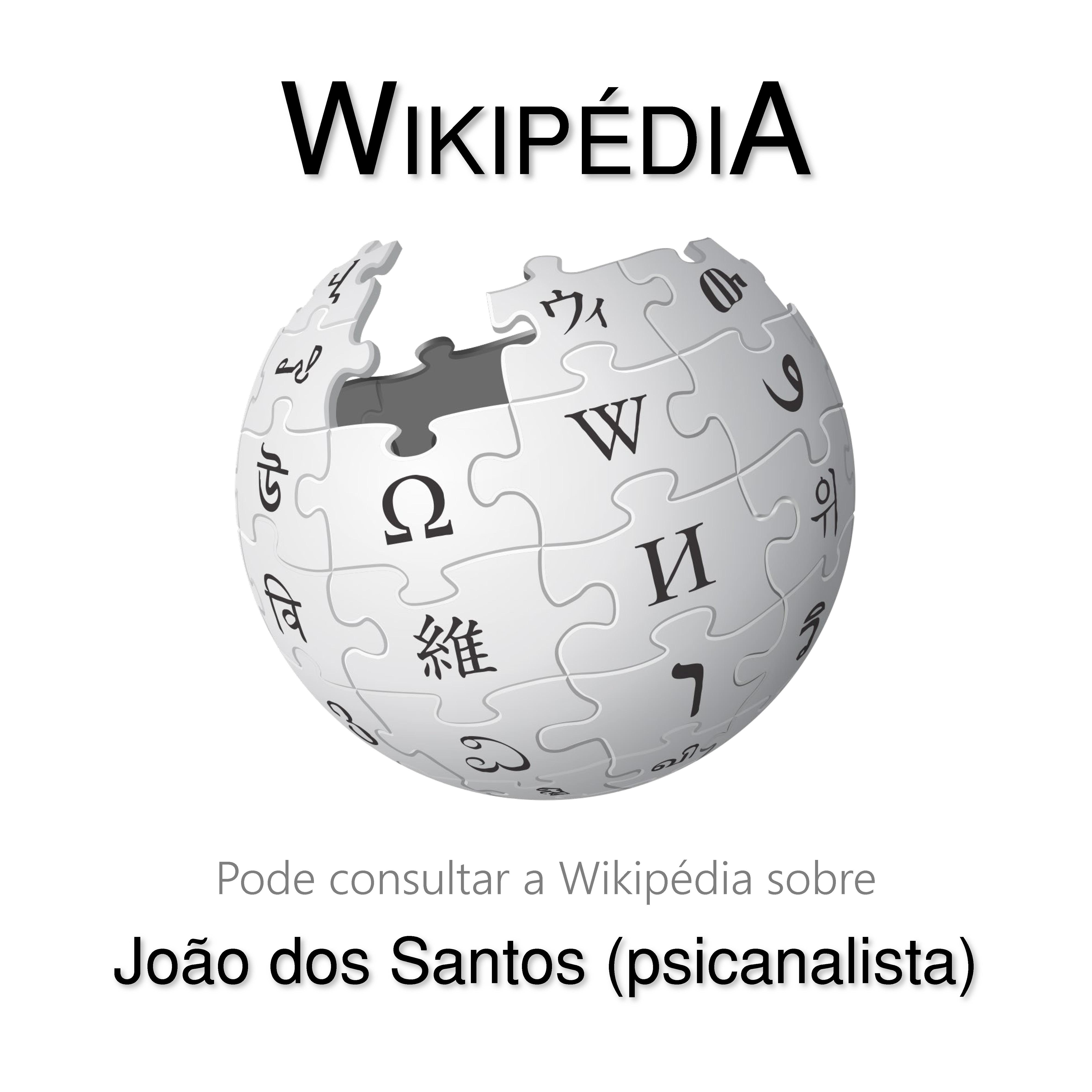 João dos Santos na Wikipedia Rev2